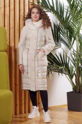 Зимнее комбинированное кожаное пальто. Фото 4.