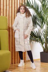 Зимнее комбинированное кожаное пальто. Фото 5.