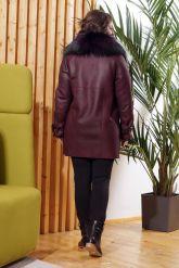 Модная дубленка косуха с мехом лисы. Фото 1.