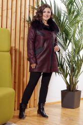 Модная дубленка косуха с мехом лисы. Фото 2.