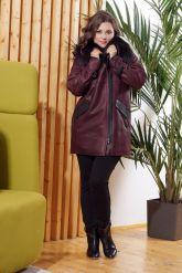 Модная дубленка косуха с мехом лисы. Фото 4.