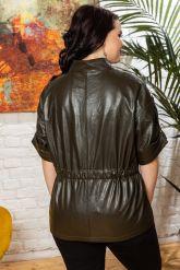 Весенняя кожаная куртка в стиле сафари. Фото 1.