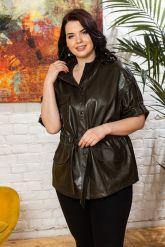 Весенняя кожаная куртка в стиле сафари. Фото 4.