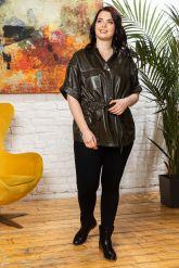 Весенняя кожаная куртка в стиле сафари. Фото 5.