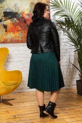 Комбинированная кожаная куртка женская. Фото 1.
