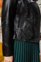 Комбинированная кожаная куртка женская. Фото 2.