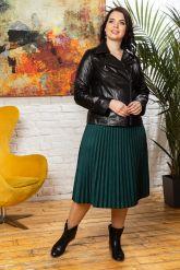 Комбинированная кожаная куртка женская. Фото 4.