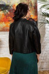 Короткая кожаная куртка под кроку. Фото 1.