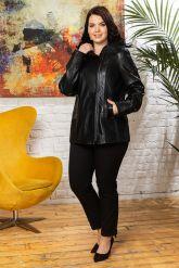 Женская кожаная куртка с капюшоном. Фото 3.