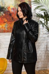 Женская кожаная куртка с капюшоном. Фото 5.