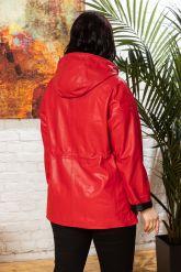 Кожаная куртка с капюшоном женская. Фото 1.