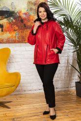 Кожаная куртка с капюшоном женская. Фото 3.
