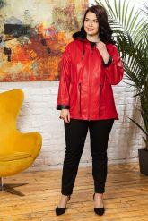 Кожаная куртка с капюшоном женская. Фото 5.