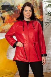 Кожаная куртка с капюшоном женская. Фото 7.