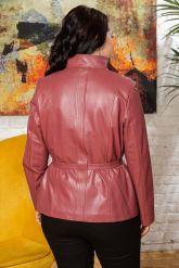 Женский кожаный пиджак из натуральной кожи. Фото 1.
