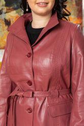 Женский кожаный пиджак из натуральной кожи. Фото 2.