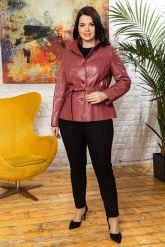Женский кожаный пиджак из натуральной кожи. Фото 3.