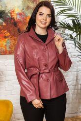 Женский кожаный пиджак из натуральной кожи. Фото 4.