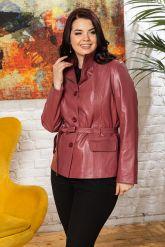 Женский кожаный пиджак из натуральной кожи. Фото 5.