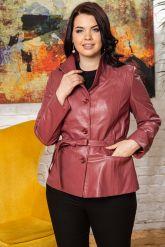 Женский кожаный пиджак из натуральной кожи. Фото 6.
