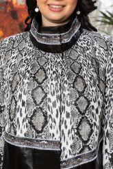 Нарядная женская кожаная куртка. Фото 2.
