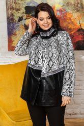 Нарядная женская кожаная куртка. Фото 3.