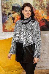 Нарядная женская кожаная куртка. Фото 5.