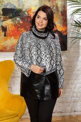 Нарядная женская кожаная куртка. Фото 6.