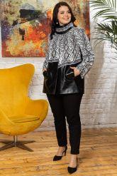 Нарядная женская кожаная куртка. Фото 7.