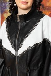 Женская кожаная куртка удлиненная. Фото 2.