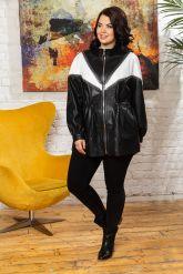 Женская кожаная куртка удлиненная. Фото 3.