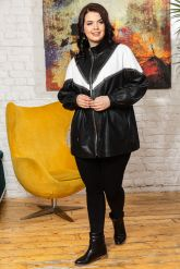 Женская кожаная куртка удлиненная. Фото 4.