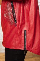 Стильная удлиненная кожаная куртка. Фото 2.