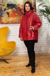 Стильная удлиненная кожаная куртка. Фото 6.