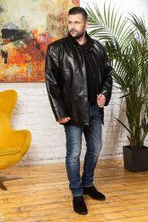 Удлиненная мужская кожаная куртка больших размеров. Фото 2.
