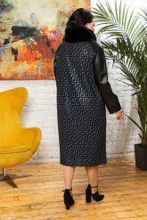 Комбинированное пальто с принтом FENDI. Фото 1.