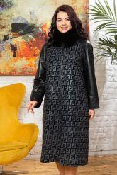Комбинированное пальто с принтом FENDI. Фото 7.