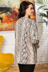 Роскошная кожаная куртка из питона больших размеров Yeni. Фото 1.