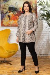 Роскошная кожаная куртка из питона больших размеров Yeni. Фото 3.