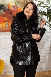 Комбинированная кожаная куртка для милых дам. Фото 2.