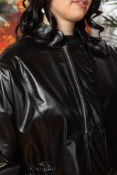 Комбинированная кожаная куртка для милых дам. Фото 5.