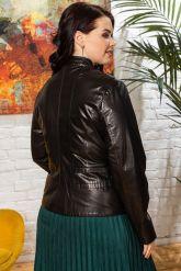 Кожаная куртка- пиджак. Фото 1.