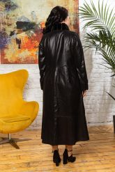 Длинное итальянское пальто из замши. Фото 1.