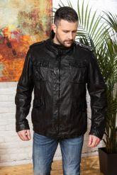 Мужская кожаная куртка в стиле милитари 2020. Фото 5.
