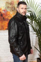 Мужская кожаная куртка в стиле милитари 2020. Фото 6.
