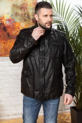 Мужская кожаная куртка в стиле милитари 2020. Фото 8.