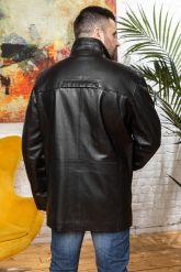 Удлиненная кожаная куртка для мужчин. Фото 1.