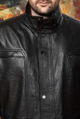 Удлиненная кожаная куртка для мужчин. Фото 2.
