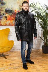 Удлиненная кожаная куртка для мужчин. Фото 3.