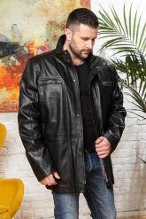 Удлиненная кожаная куртка для мужчин. Фото 4.